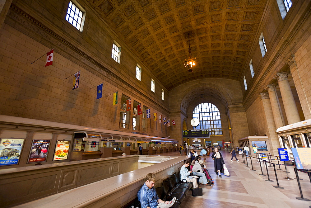 Interior, Great Hall, Union Station, Toronto, Ontario, Canada, North America - 821-190