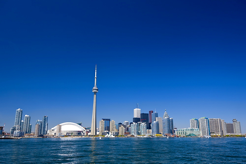 City skyline showing CN Tower, Toronto, Ontario, Canada, North America - 821-191