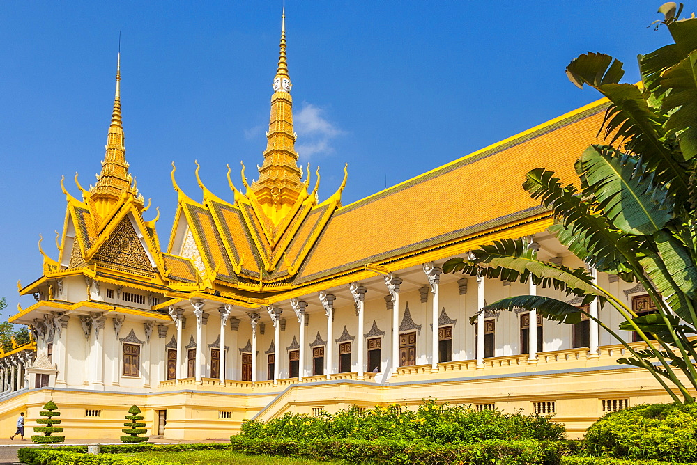 Throne Hall, Royal Palace, Phnom Penh, Cambodia, Indochina, Southeast Asia, Asia - 821-228
