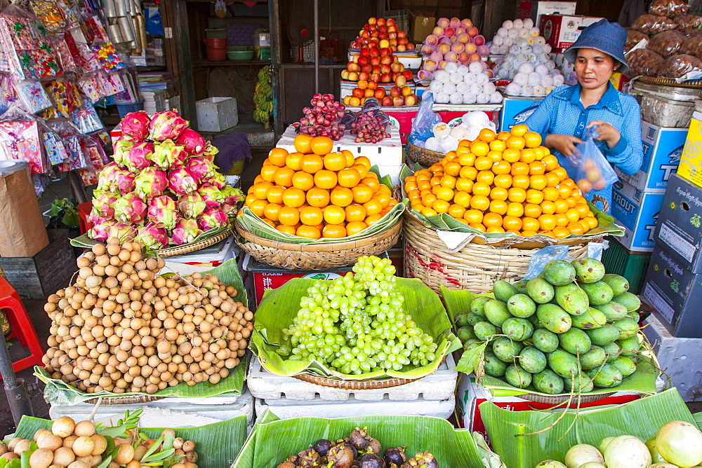 Fruit, Central Market, Phnom Penh, Cambodia, Indochina, Southeast Asia, Asia - 821-233