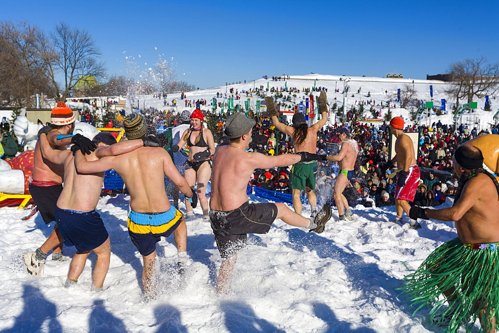 Bain de Neige (Snow Bath), Quebec Winter Carnival, Quebec City, Quebec, Canada, North America - 821-241