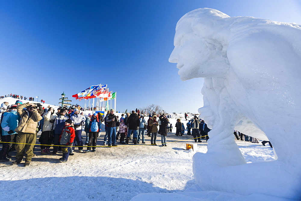 Ice sculpture, Quebec Winter Carnival, Quebec City, Quebec, Canada, North America - 821-243