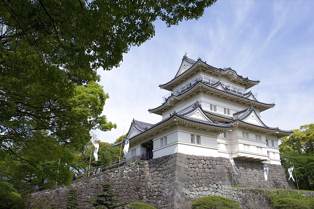 Odawara Castle, a Hojo clan stronghold until destroyed then rebuilt in the 1960s, Japan - 822-128