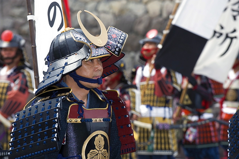 Samurai in the Odawara Hojo Godai Festival held in May at Odawara Castle in Kanagawa, Japan, Asia - 822-134