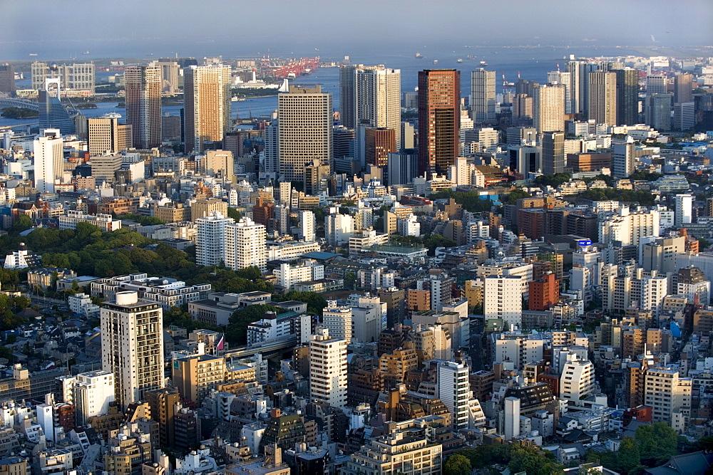 Aerial view of metropolitan Tokyo from atop the Mori Tower at Roppongi Hills, Tokyo, Japan, Asia