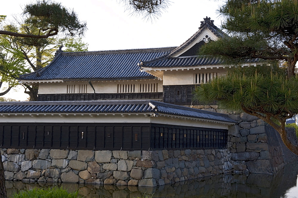 The 16th century Matsumoto Castle, mostly original construction and a National Treasure of Japan, Nagano, Japan