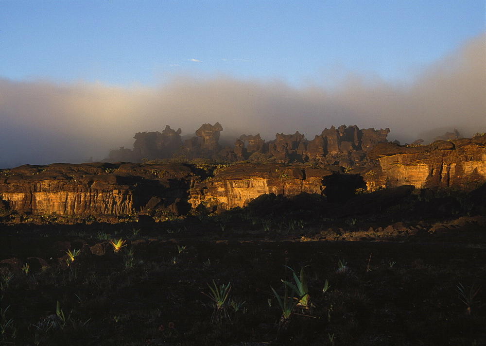 Rock shapes in a labyrinth, Mount Roraima summit, Brazilian sector, Roraima State, Brazil, South America