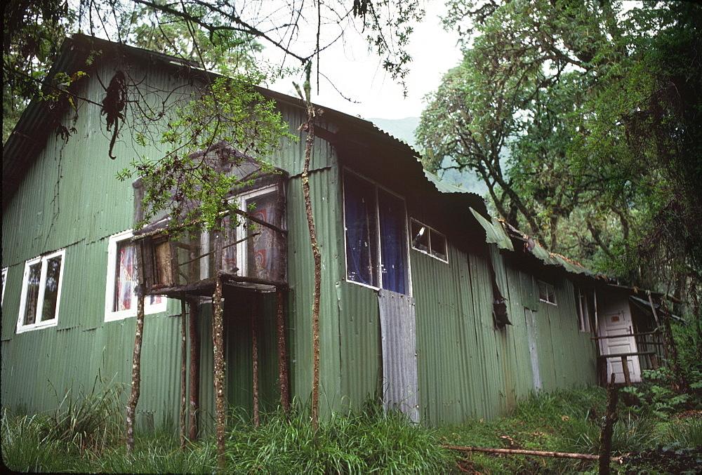 Dian Fossey's Cabin, Karisoke Mountain Gorilla Research Centre, Virunga Volcanoes, Rwanda, Africa - 823-600