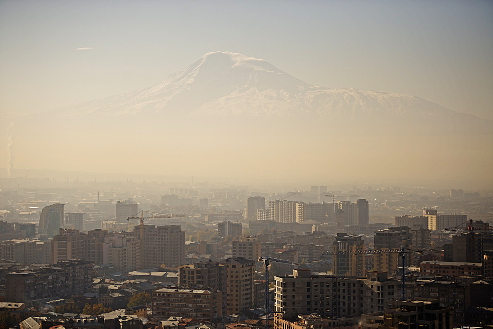 A view of Yerevan and Mount Ararat, Armenia, Central Asia, Asia  - 824-121