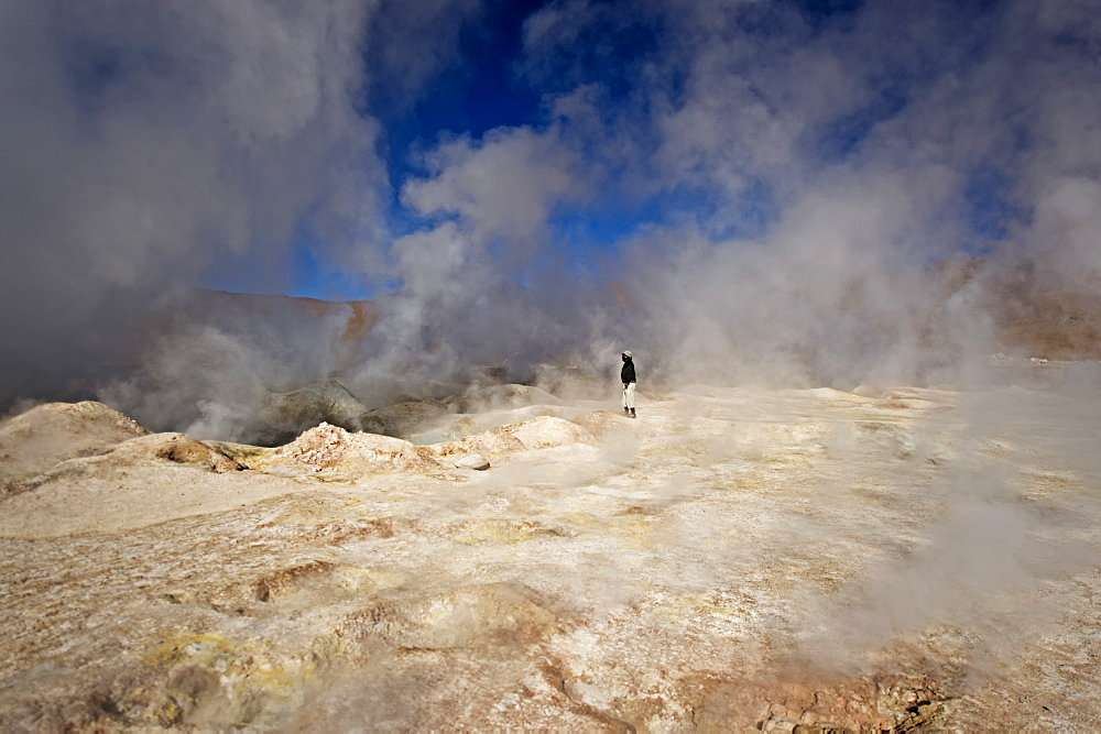 The Sol de Manana geysers, a geothermal field at a height of 5000 metres, Bolivia, South America  - 824-123