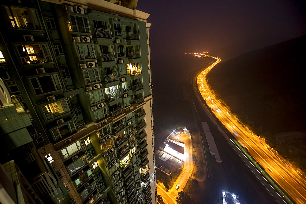 View from a skyscraper of the outskirts of Hong Kong, China, Asia - 824-162