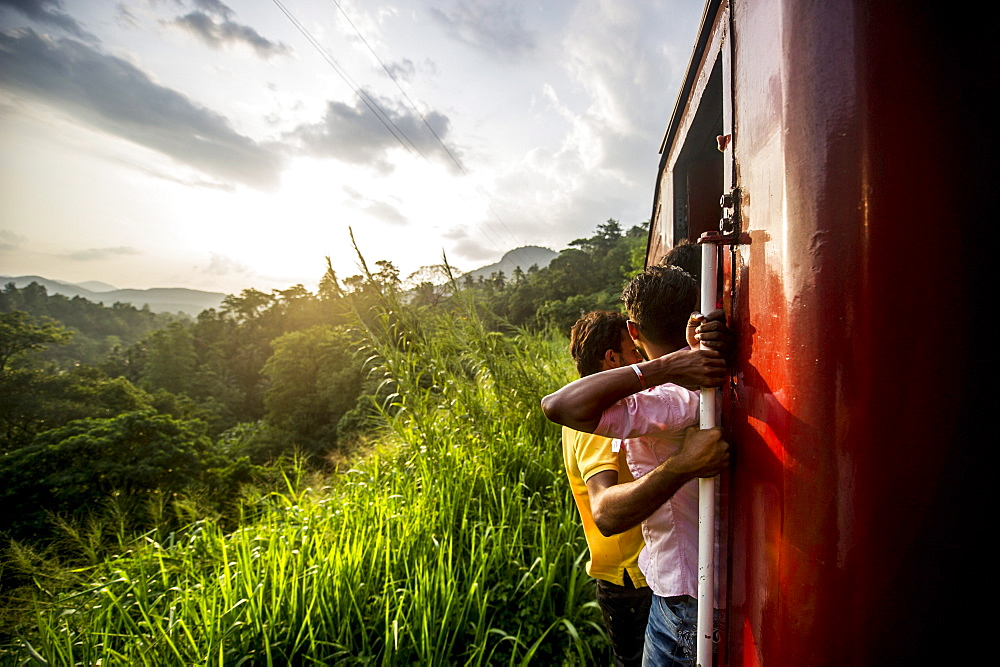 Riding the train in Sri Lanka, Asia  - 824-174