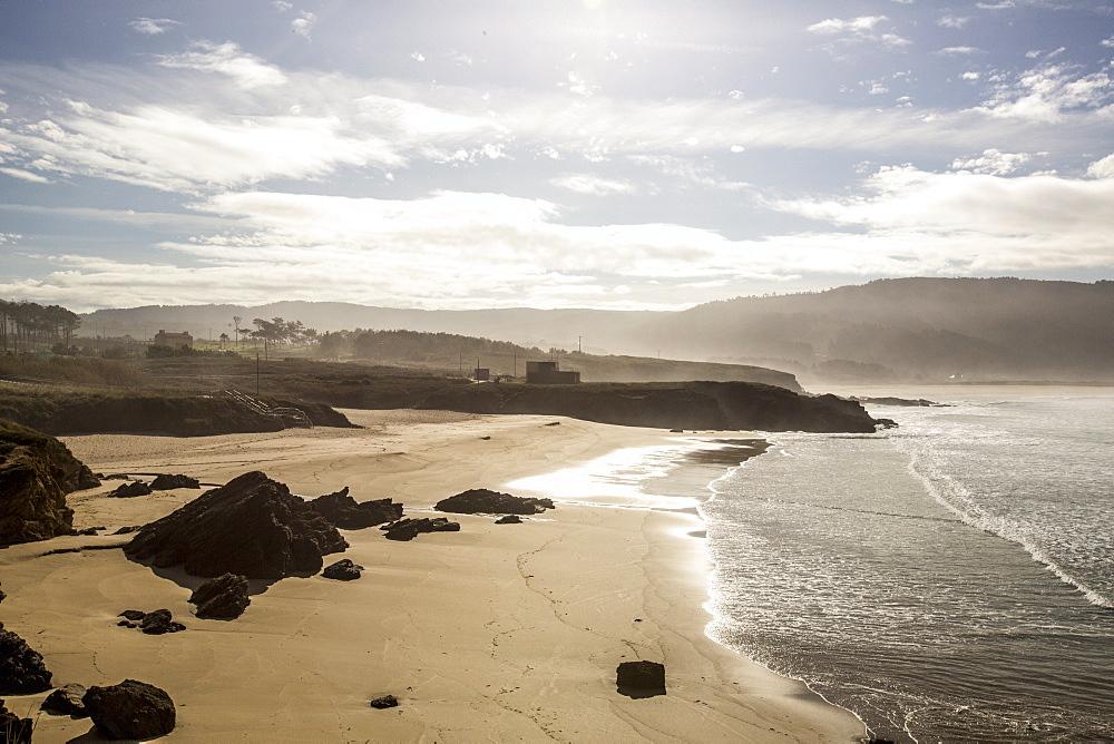Esmelle beach, Galicia, Spain, Europe