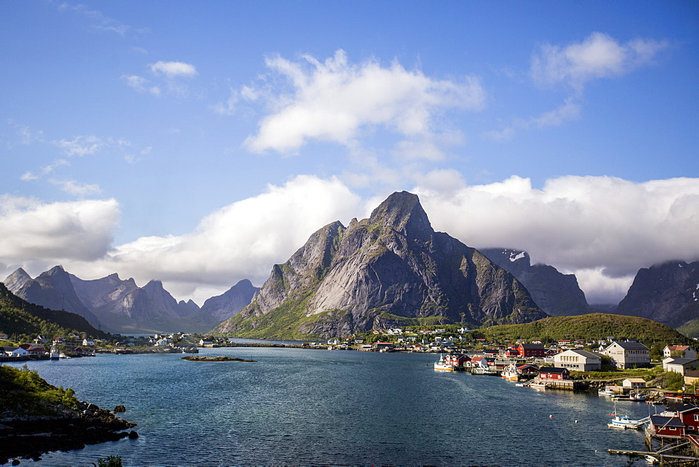 The town of Reine, a popular tourist town in the Lofoten Islands, Norway, Scandinavia, Europe - 824-184