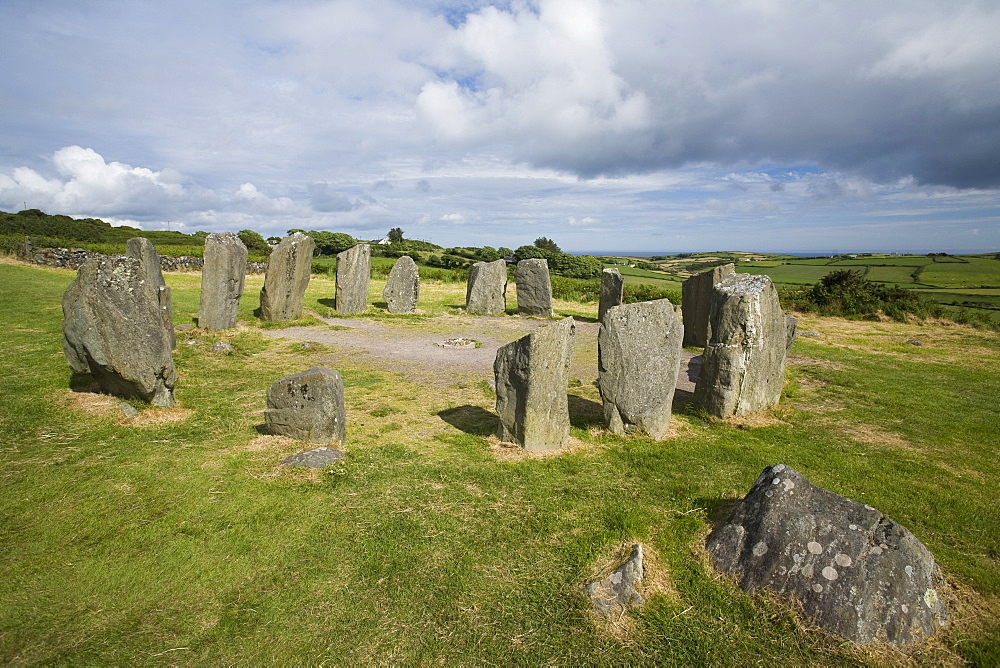Drombeg stone circle, a recumbent stone circle locally known as the Druid's Altar, County Cork, Munster, Republic of Ireland, Europe - 825-135
