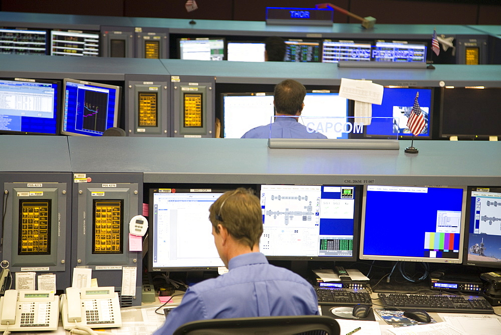 Mission Control room at NASA, Houston, Texas, United States of America, North America