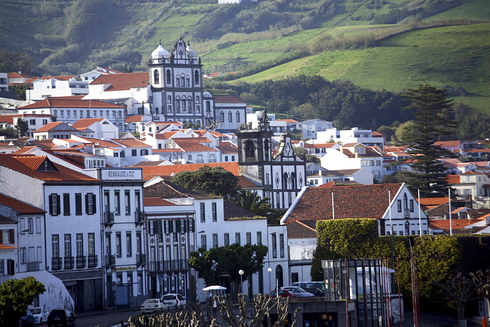 Town of Horta on the island of Faial, The Azores, Portugal, Europe - 825-159