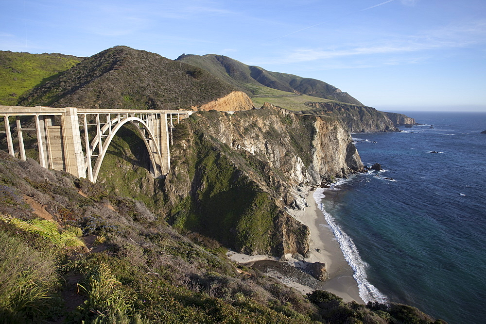 Bixby Bridge, along Highway 1 north of Big Sur, California, United States of America, North America - 825-233