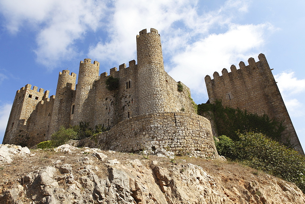 Obidos castle, a medieval forstress, today used as a luxury Pousada hotel, in Obidos, Estremadura, Portugal, Europe - 826-354