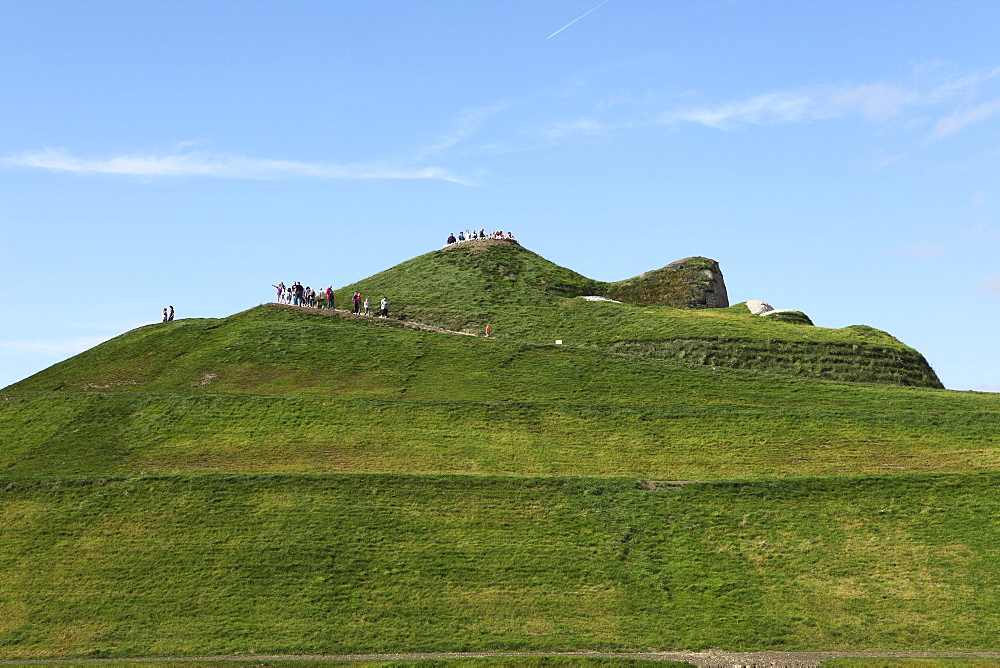 Northumberlandia, the world's largest human form sculpture, known as the Naked Lady of Cramlington, Northumberland, England, United Kingdom, Europe