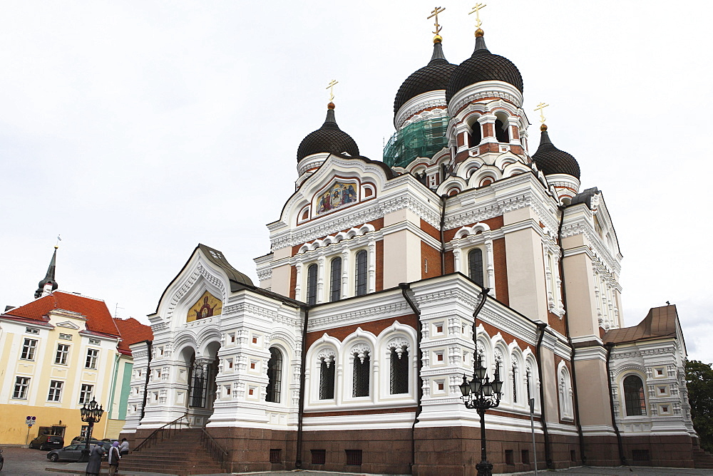 Alexander Nevsky Cathedral, a Russian Reviival style Orthodox church, by Mikhail Preobrazhensky, Toompea, Tallinn, Estonia, Europe