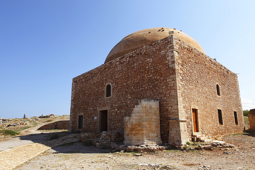 The Mosque of Sultan Ibrahim within the Fortezza, or castle, in Rethymnon, Crete, Greek Islands, Greece, Europe
