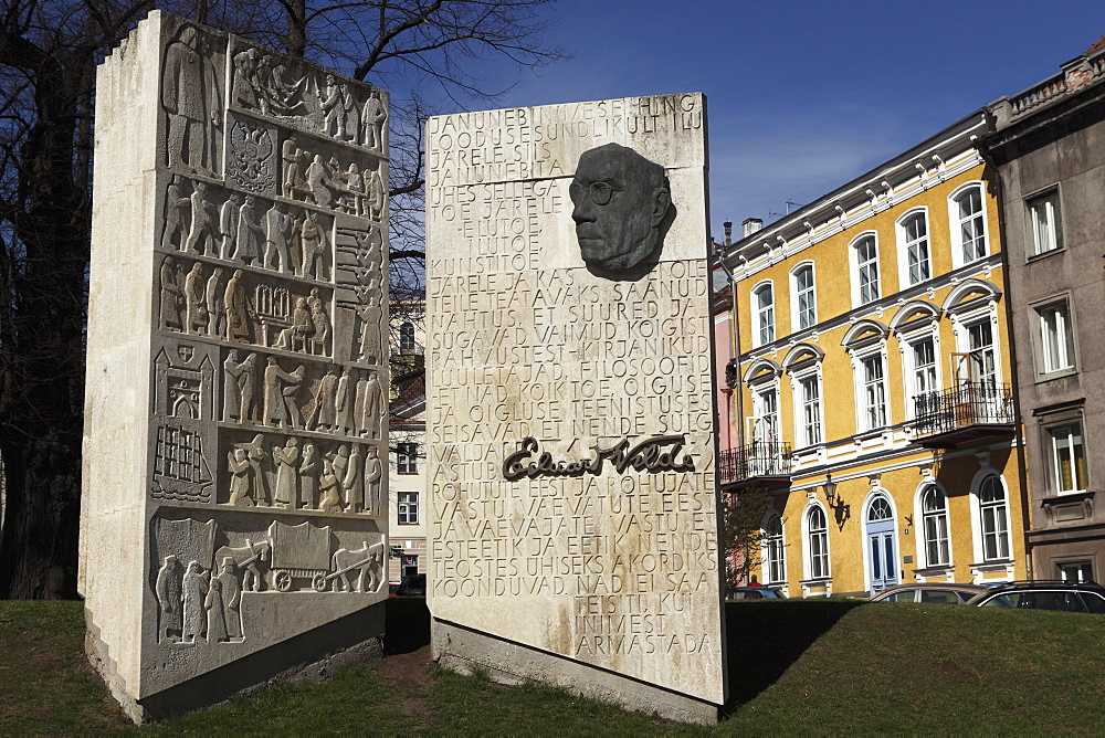Monument to the Estonian author Eduard Vilde, in Tallinn, Estonia, Europe