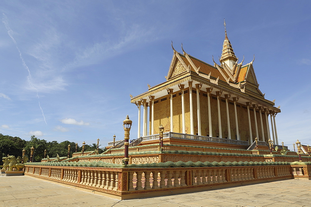 Main temple at Udon Monastery (Vipassana Dhura Buddhist Centre) at Phnom Udon, Udong, Cambodia, Indochina, Southeast Asia, Asia - 826-612