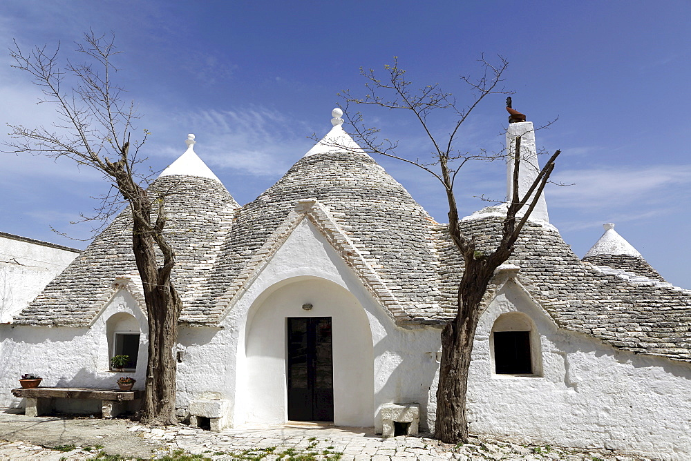 A traditional trullo house at Masseria Tagliente, an agricultural and agrotourism hub near Martina Franca, Apulia, Italy, Europe - 826-631