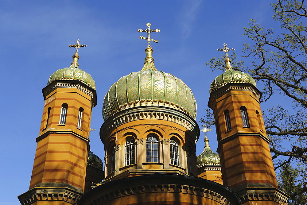 Russian Orthodox Chapel, built 1860 to 1862 for Grand Duchess Maria Palovna, in Weimar, Thuringia, Germany, Europe - 826-654