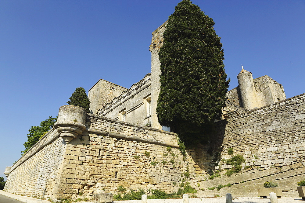 Viellevieille Castle, dating from the 11th century, with a Renaissance facade, in Villevieille, Gard, Languedoc-Roussillon, France, Europe - 826-660