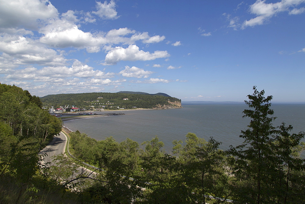 Coastline seen from Fundy National Park in New Brunswick, Canada, North America - 826-685