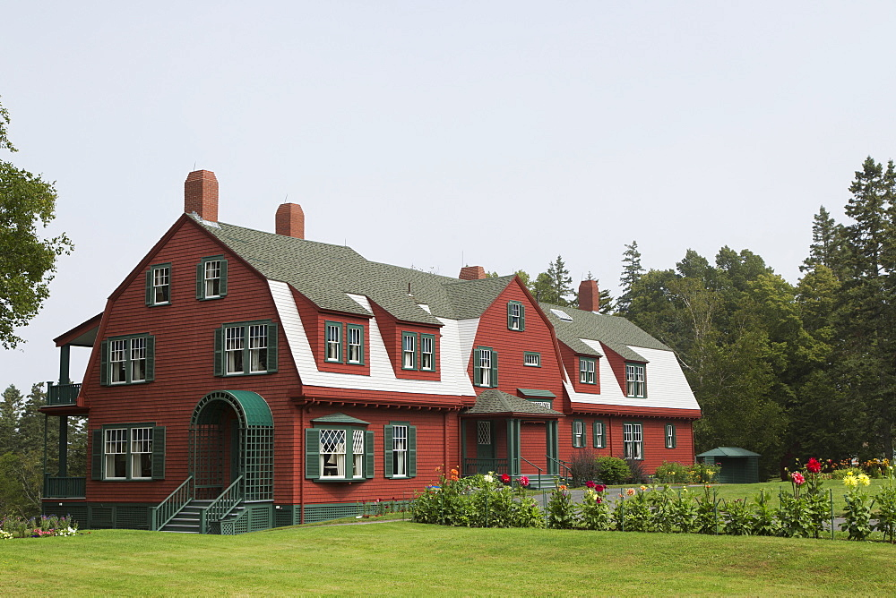 Roosevelt Cottage at Roosevelt Campobello International Park on Campobello Island in New Brunswick, Canada, North America