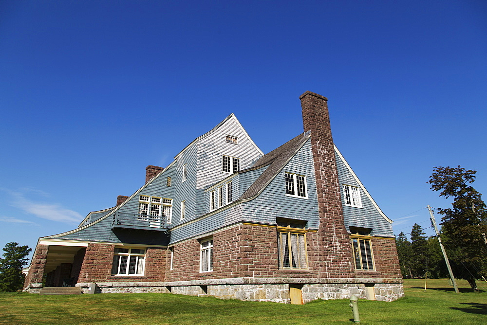 Former summer residence of Sir William Van Horne, a Provincial Heritage Place on Ministers Island in New Brunswick, Canada, North America - 826-691