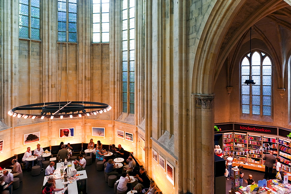 Selexyz Dominicanen Bookstore inside the Dominicanenkerk (Dominican Church), Maastricht, Limburg, The Netherlands, Europe