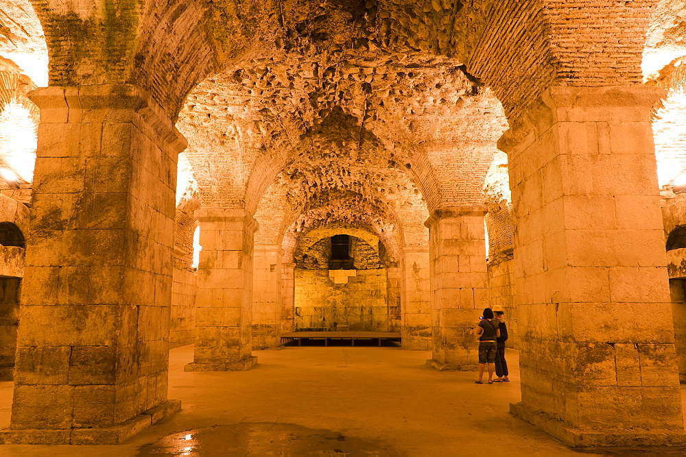 Basement halls, Diocletian's Palace, UNESCO World Heritage Site, Split, region of Dalmatia, Croatia, Europe - 827-354