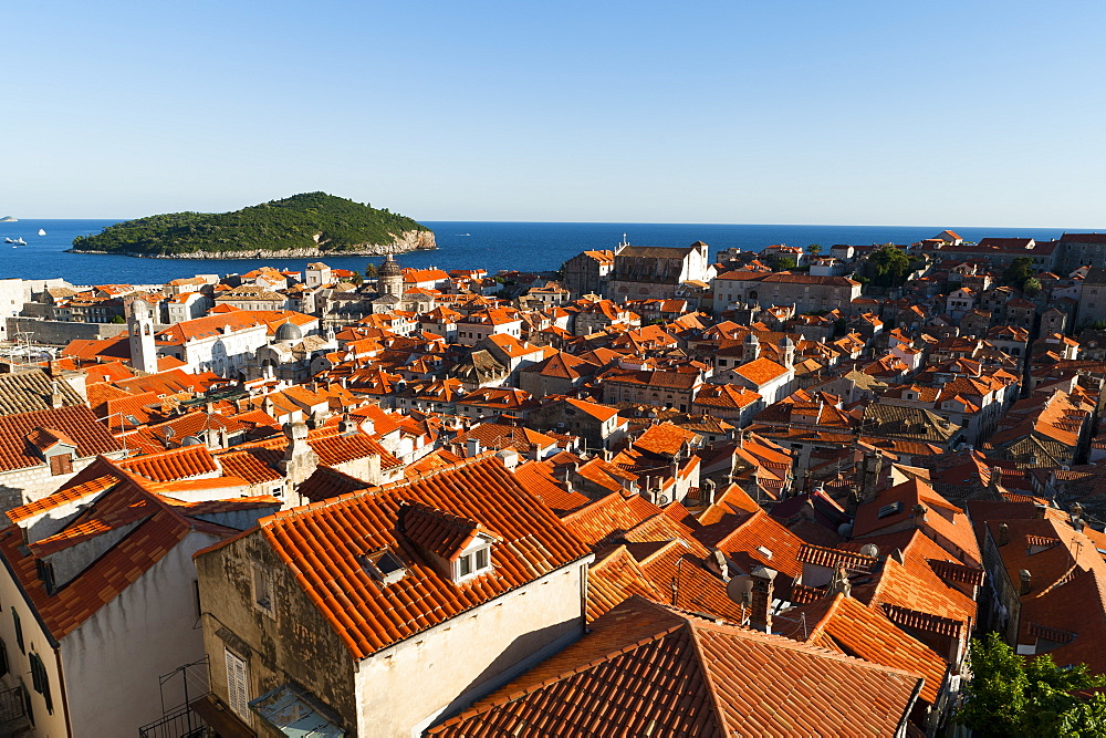 Old town view, Dubrovnik, UNESCO World Heritage Site, Dubrovnik-Neretva county, Croatia, Europe - 827-398