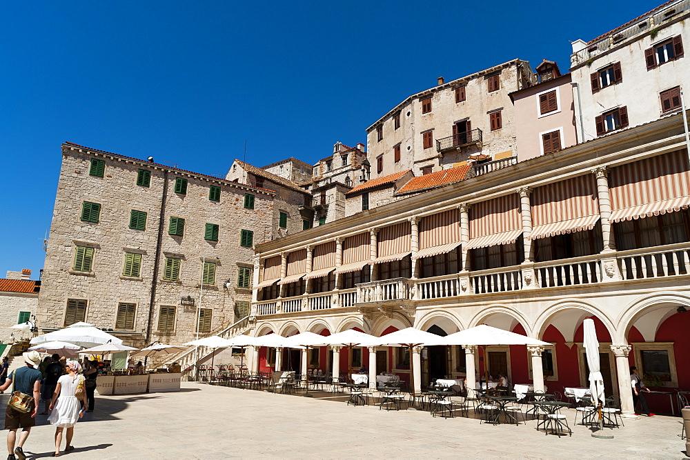 Town Hall (Duke's Palace), Katedralni Trg - Platea Magna (Cathedral Square), Sibenik, Dalmatia region, Croatia, Europe - 827-470