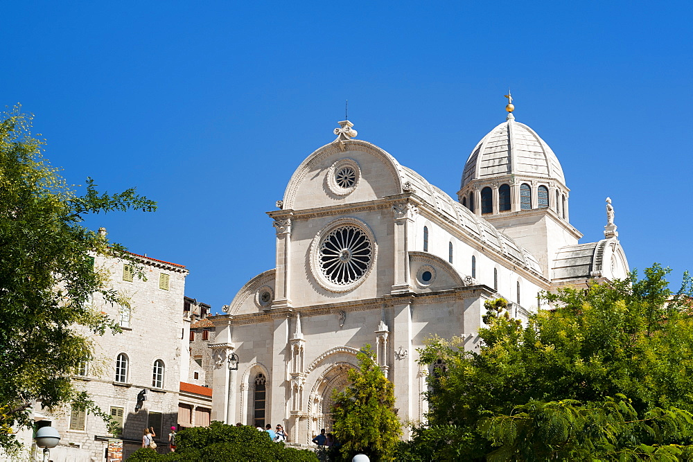 Katedrala Sv. Jakova (St. James Cathedral), UNESCO World Heritage Site, Sibenik, Dalmatia region, Croatia, Europe - 827-479