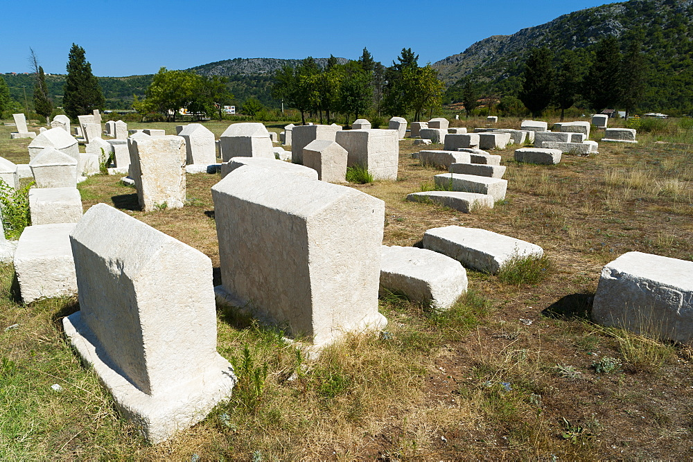 Stecak necropolis of Radimlja, located near Stolac, Bosnia and Herzegovina, Europe - 827-482