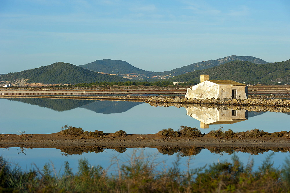 Salt lake, Ses Salines natural park, Ibiza, Balearic Islands, Spain, Mediterranean, Europe - 827-496