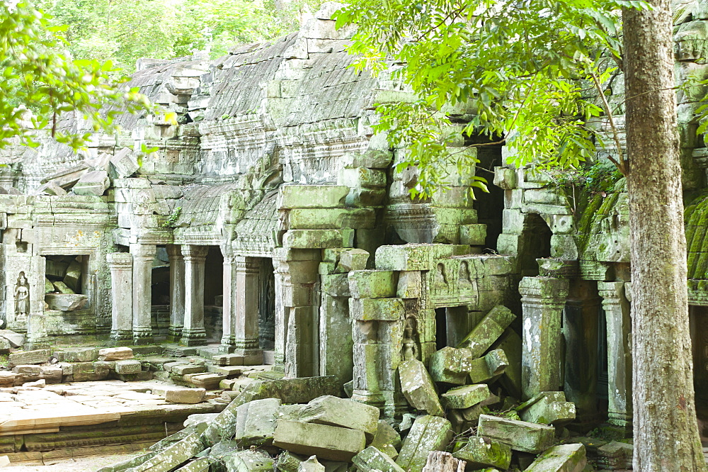 Ruins of Preah Khan Temple, UNESCO World Heritage Site, Angkor, Siem Reap, Cambodia, Indochina, Southeast Asia, Asia - 827-519