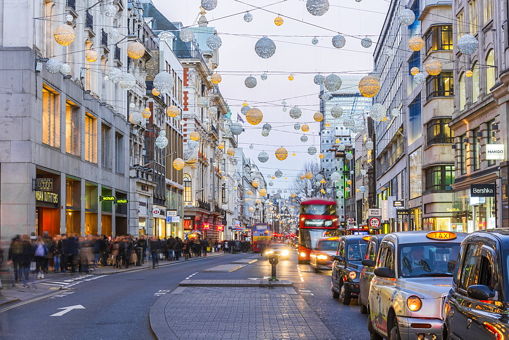 Christmas Lights, Oxford Street, West End, London, England, United Kingdom, Europe