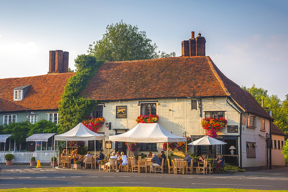 The Fox Inn, Finchingfield, Suffolk, England, United Kingdom, Europe