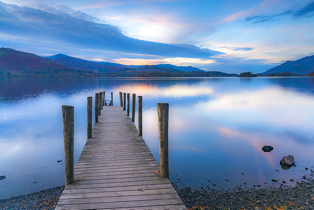 Stock photo of Ashness Jetty, Derwentwater, Keswick, Lake District National Park