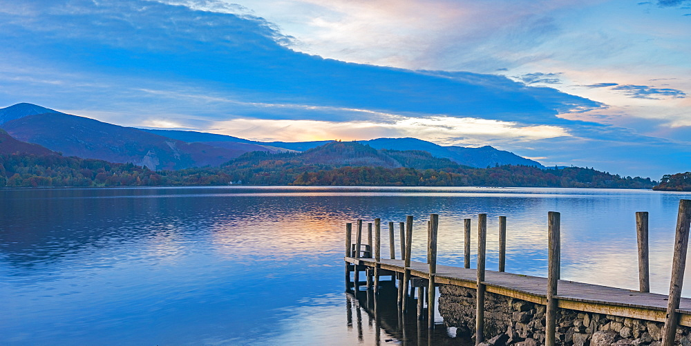 Ashness Jetty, Derwentwater, Keswick, Lake District National Park, Cumbria, England, United Kingdom, Europe - 828-1049