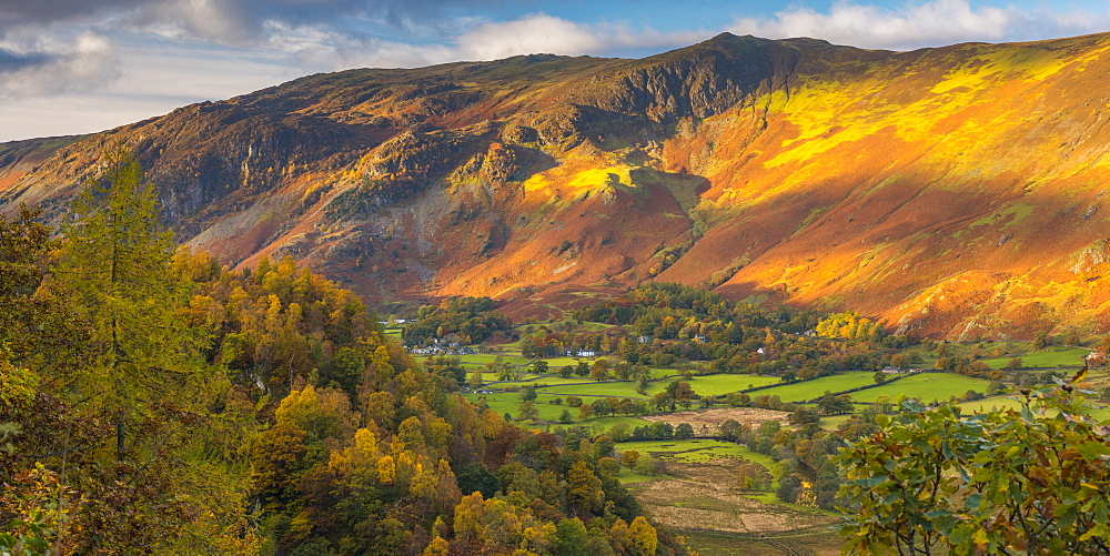Borrowdale on south bank of Derwentwater, Lake District National Park, Cumbria, England, United Kingdom, Europe