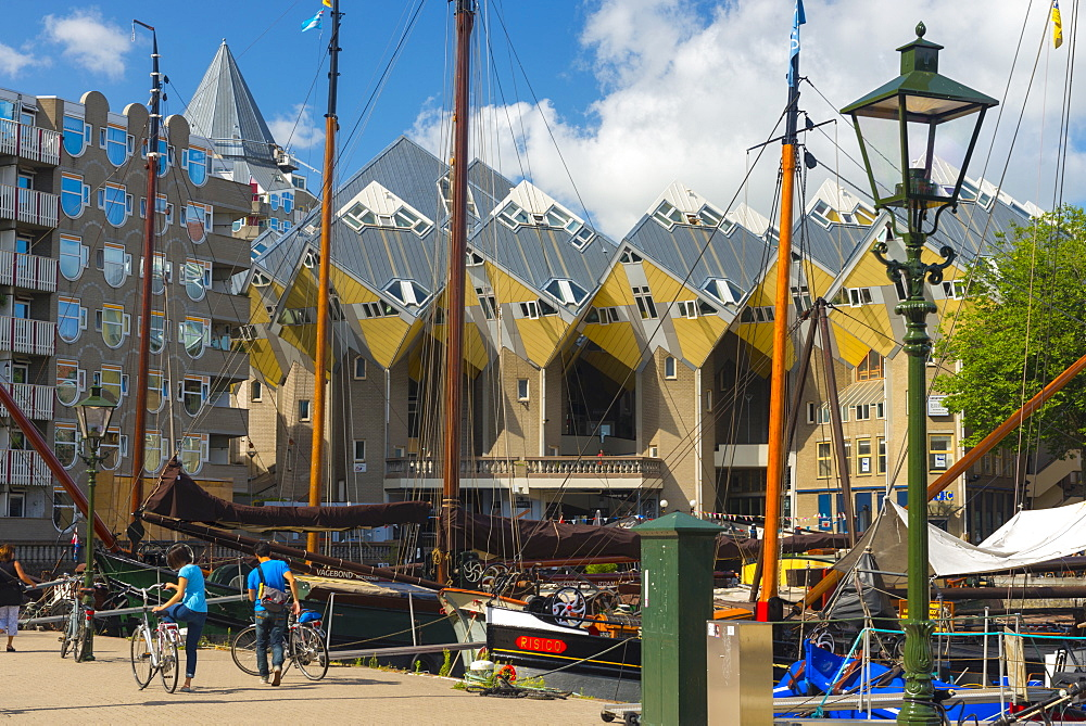 Cube houses (Pole Houses) (Tree Houses), Kubuswoningen, Rotterdam, South Holland, The Netherlands, Europe - 828-1091