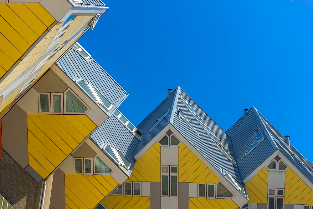 Cube houses (Pole Houses) (Tree Houses), Kubuswoningen, Rotterdam, South Holland, The Netherlands, Europe - 828-1092