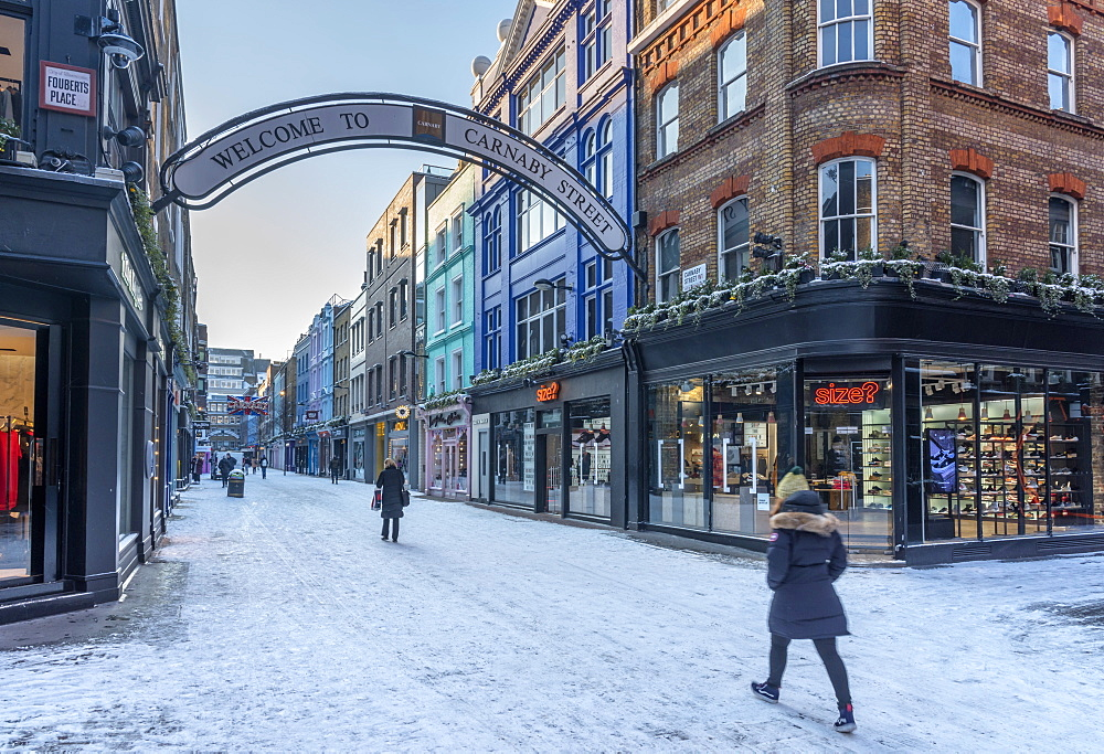 Carnaby Street in winter, The West End, London, England, United Kingdom, Europe - 828-1098